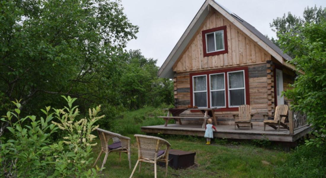 Log Cabin Exterior firepit